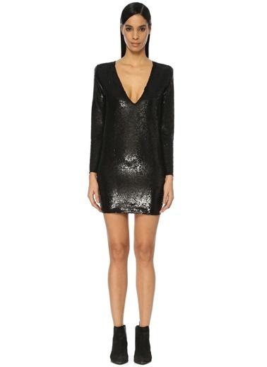 İro Kokteyl Elbise Siyah